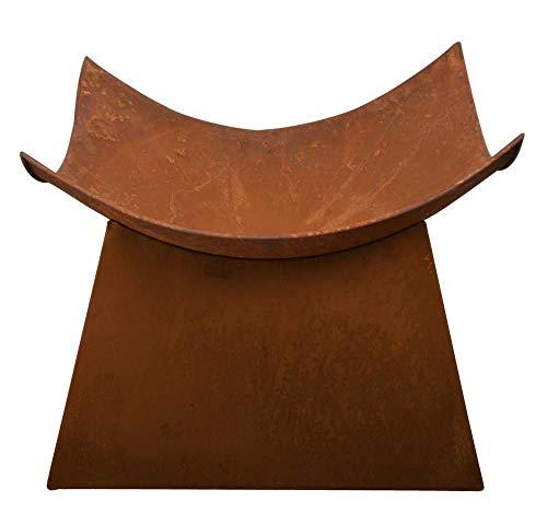Esschert Design Feuerschale, Feuerstelle, in Rost, viereckig, ca. 50 cm x 50 cm x 37 cm