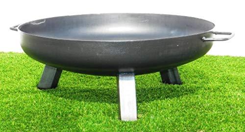 Feuerschale aus Stahl 600 mm / mit 3 Beinen und 2 Griffen