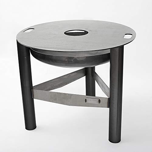 Czaja Feuerschale mit Grillring Ø 98 cm | Feuerstelle mit Grillplatte | Plancha | Grillring, Feuerplatte, Feuerring