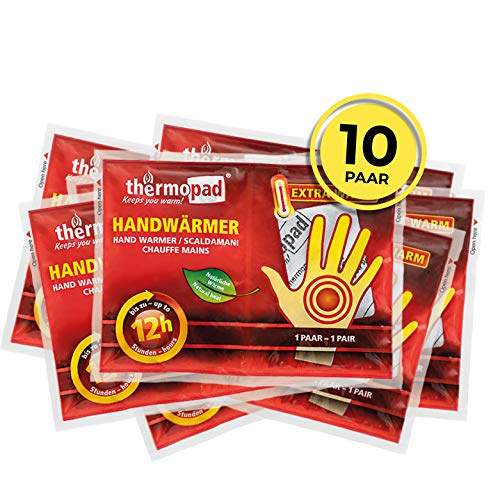 Thermopad Unisex-Adult Handwärmer, Weiß, Alle Größen, 10er Pack