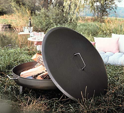 Czaja Stanzteile Deckel für alle Feuerschalen ; einfaches Ablöschen der Feuerschale ohne Wasser und zum Schutz vor Regen (Stahl, Ø 80cm)