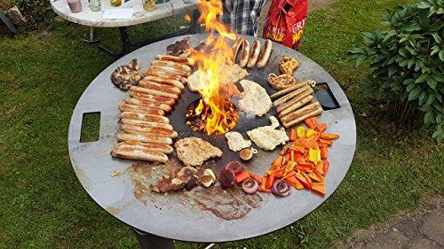 Czaja Stanzteile Grillschale mit Plancha 98 cm | Plancha | Grillring, Feuerplatte