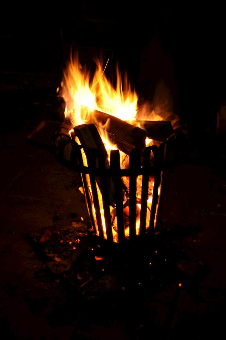 Feuerstelle im Garten - Der Feuerkorb